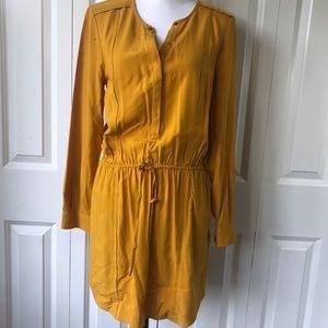 Banana Republic Dress Size 6 Mustard Yellow